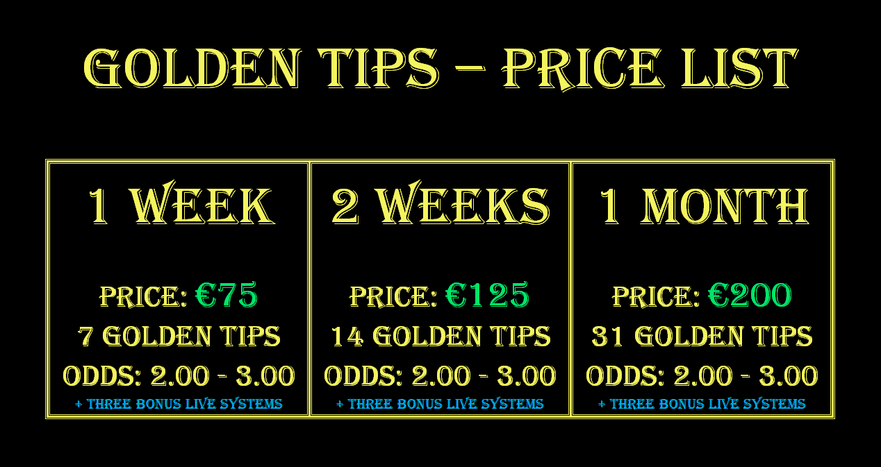 Golden Tips Price List
